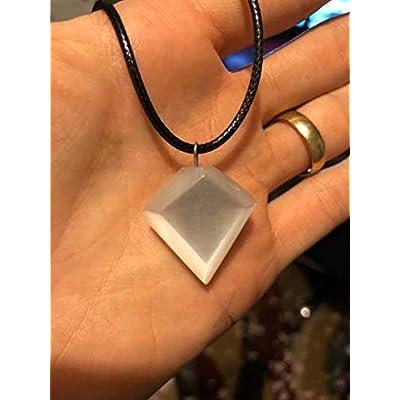 CrystalsAhoy Selenite Diamond Necklace: Industrial & Scientific
