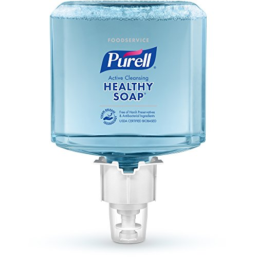 PURELL ES6 Foodservice HEALTHY SOAP Active Cleansing Foam Refill, Fresh Fragrance, 1200 mL EcoLogo Certified Soap Refill for PURELL ES6 Touch-Free Dispenser (Pack of 2) - 6486-02