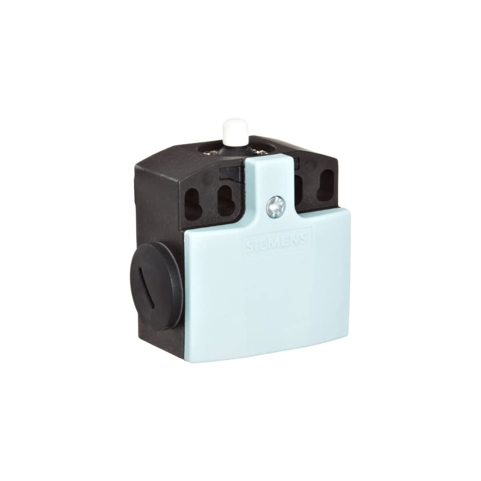 Siemens 3SE5 242 0HC05 Mechanical Position Switch, Complete Unit, Plastic Enclosure, 50mm Width, Rounded PTFE Plunger, Snap Action Contacts, Integrated, 1 NO + 1 NC Contacts