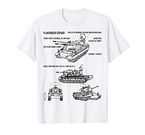 (Flakpanzer Gepard Anti-Aircraft Tank SPAAG T-Shirts Gift)