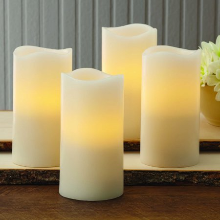 Better Homes and Gardens Flameless LED Pillar Candles 4-Pack, Vanilla Scented from Better Homes & Gardens
