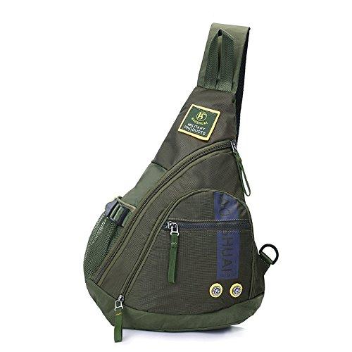 Hsdda Pour Taille Bandoulière Sac vert Homme Multifonction Fourre tout Air À Plein Dos Sports De Mode TwxB1T4