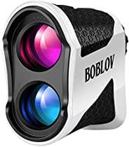 BOBLOV Slope Golf Rangefinder, Hunting Rangefinder with Speed, 6X Magnification 650 Yards with Compensation Fl