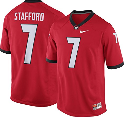 Replica Nike College Jersey - NIKE Men's Matthew Stafford Georgia Bulldogs #7 Red Replica College Alumni Jersey (XXL)