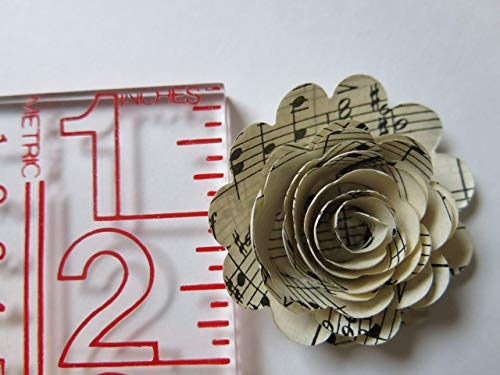 Scalloped-Sheet-Music-Paper-Flowers-12-Roses-15-Inch-Rosettes-Music-Theme-Party-Decor-Band-Teacher-Gift-Idea
