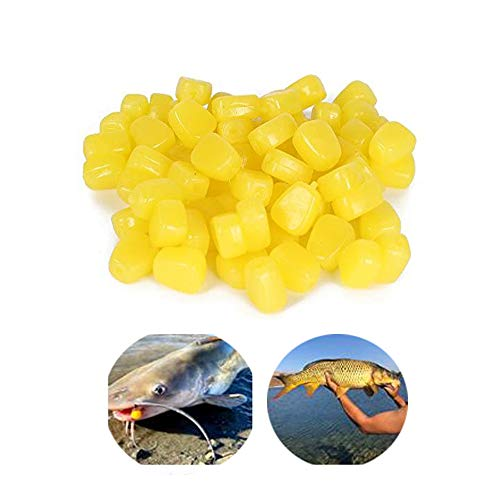 50 pcs TPR Simulation Fake Soft Baits Corn Carp Fishing Lures Floating Baits with Nice Scent for Carp Fishing,Trout Fishing,Cat Fish (50 pcs)