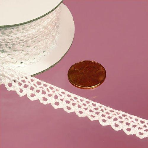 (Alyne White Cotton Lace Trim, 3/8