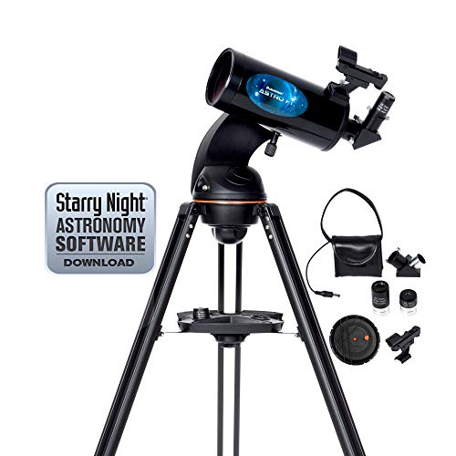 Celestron Astro Fi 102 Wi-Fi Maksutov Wireless Reflecting Telescope, Black (22202)