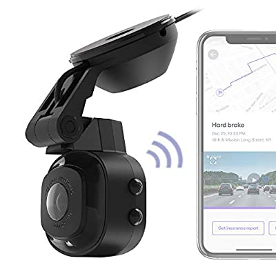 SCOSCHE NEXC11016-SP1 Full HD Smart Dash Cam Powered by Nexar with Suction Cup Mount and 16GB micro-SD card: Car Electronics