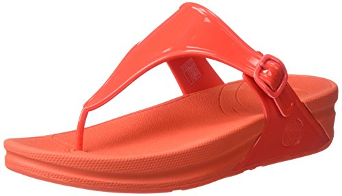 FitFlop Women's Superjelly Flip Flop, Flame, 7 M US