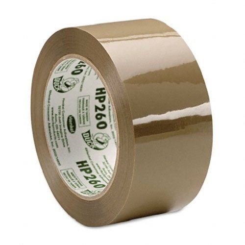 Duck Brand HP260 High Performance Packaging Tape, 1.88-Inch x 60 Yards, 3.1 Mil, Tan, Single Roll (HP260T)