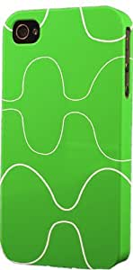 Vintage Green Pattern Dimensional Case Fits Apple iPhone 4 or iPhone 4s