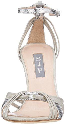 Sjp By Sarah Jessica Parker Sandali Con Cinturino In Salice Salice (argento Stampato Serpente)