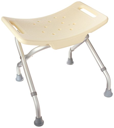 Folding Bath Seat (DMI Lightweight Folding Bath and Shower Seat, Adjustable Height, Off-White)