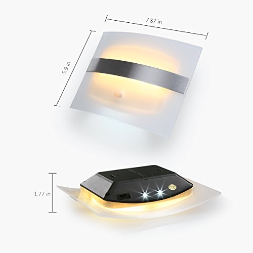 Z-Edge Motion Sensor Activated LED Wall Sconce Night Light