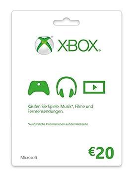 Microsoft Xbox Live 20 € Tarjeta de Juego de Consola ...
