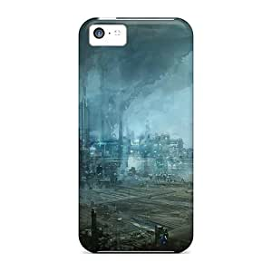 Personality customization Case Cover Compatible For Iphone 5c/ Hot Case/ Futuristic Industrial Area By PLUS6A Case