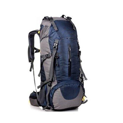 GOUQIN Zaino Outdoor Classico Moda 50L Grande Capacità Viaggio Turistico Escursione Pacchetto Dual Borsa A Tracolla