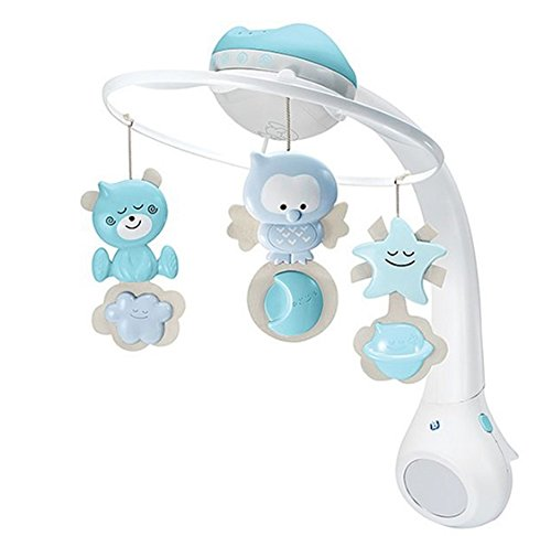 Infantino 3in 1 Melody Mobil, Baby's Merry Multi Mobile (BLUE) by Infantino..