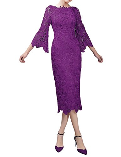 YOUAREFACNY Women's Long Sleeves Mother of the Bride Dress Lace Bridesmaid Gowns