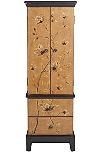 Amazoncom Lotus Jewelry Armoire 46Hx16Wx12D TAN BROWN