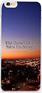 Case for Iphone,Dseason Iphone 6 (4.7) Hard Case **NEW** High Quality Unique Design Christian Quotes what doesn't kill you makes you stronger