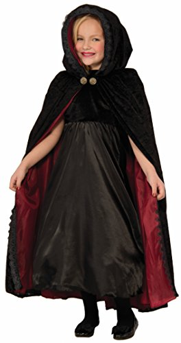 Forum Novelties Kids Gothic Vampiress Cape Costume, Black, One Size (Abc 13 Days Of Halloween)