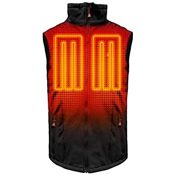 Image of ActionHeat 5V Heated Vest for Men – Sleeveless Heated Jacket – Lightweight Softshell Battery Heated Clothing with USB Charging for Outdoor Camping, Hiking, Hunting, Motorcycle – Black Active Vests