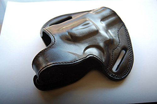 Cal38S3 Handcrafted Leather Belt Holster for SW 686 Plus Barrel 2.5 (Black)