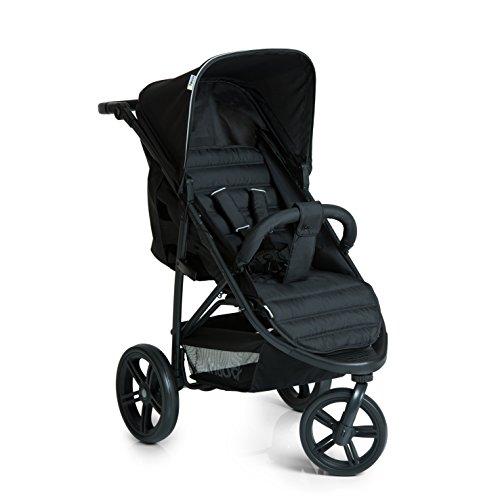 Hauck Rapid 3 Wheel Pushchair, Caviar/Black