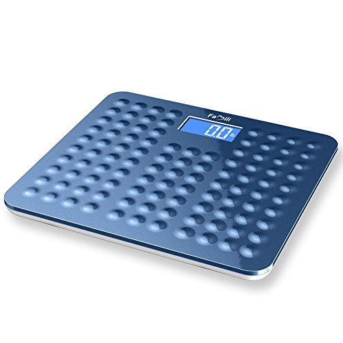 Famili Non Slip Accurate Digital Body Weight Bathroom Scale, 400lb/180kg, Blue