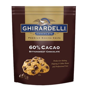 Chocolate Cacao Bittersweet 60% (Ghirardelli 60% Cacao Bittersweet Chocolate Baking Chips (30 oz.))