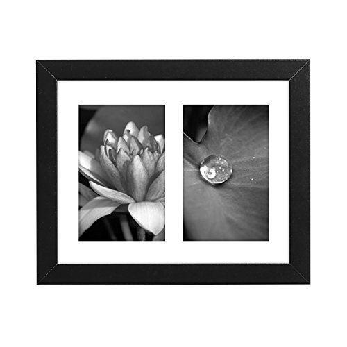 Picture Frame 8x10 Made with Two 4x6 inch Openings; Color, Black