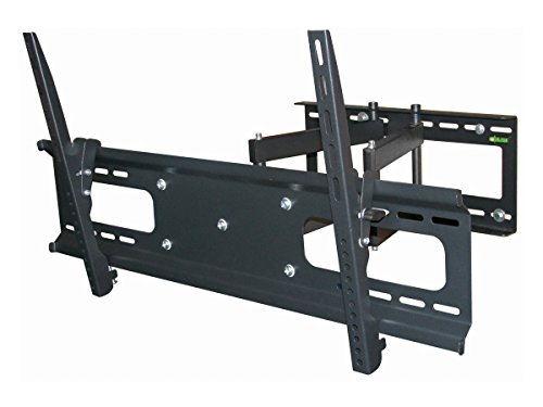 Black Full-Motion Tilt/Swivel Wall Mount Bracket for Toshiba 65L350U 65