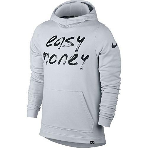 Men's Nike KD Therma Hoodie Pure Platinum/Black X-Large