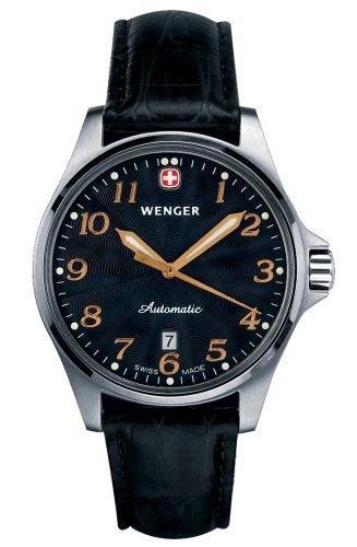 Wenger 72766 - Reloj de Pulsera Hombre, Cuero