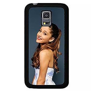 Lovely Popular Star Ariana Grande Phone Case Mj12 Protective Black Plastic Back Cover For Samsung Galaxy S5mini