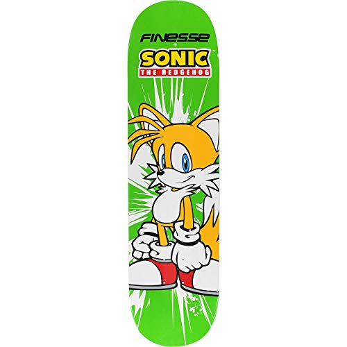 Finesse Skateboards Sega Sonic Tails Skateboard Deck - 7.75