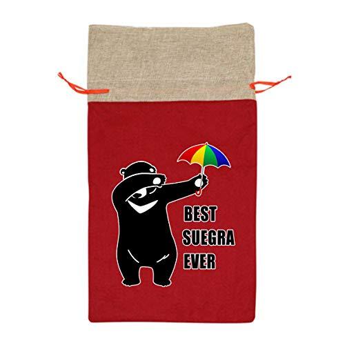 Suegras En Halloween (Best Suegra Ever Dabbing Bear Christmas/halloween Gift Bags Party Pack Reusable Gift)