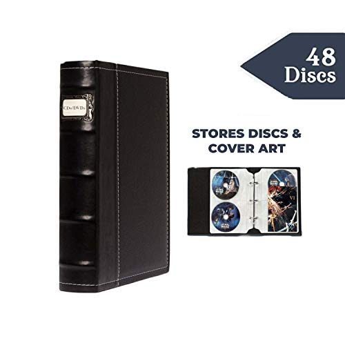 Bellagio-Italia CD/DVD Storage Binder (Black) (Capacity Koskin Cd Dvd)