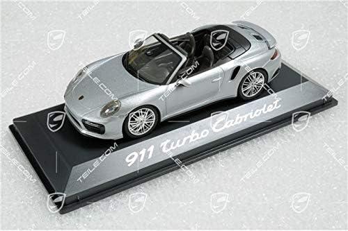 Porsche 911 991 II Turbo Cabrio Rhodiumsilber Met Escala 1:43.
