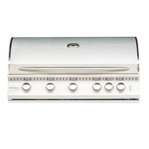 Summerset Sizzler Pro Series Built-In Gas Grill, 40-Inch, (Pro Series Stainless Steel Chimney)
