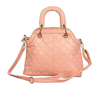 94a0132fefe0 Fancy handle pattern partywear handbag of peach color by BELOMODA   Amazon.in  Clothing   Accessories