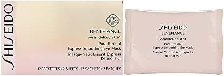 Shiseido Benefiance WrinkleResist24 Pure Retinol Express Smoothing Eye Mask for Unisex 12 count