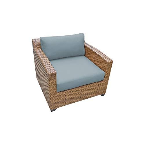 TK Classics Laguna Outdoor Wicker Patio Club Chair in Spa