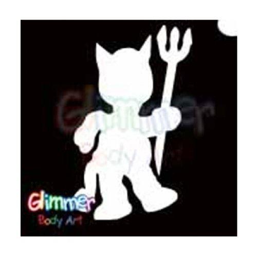 Glimmer Body Art Glitter Tattoo Stencils - Little Devil 2 -