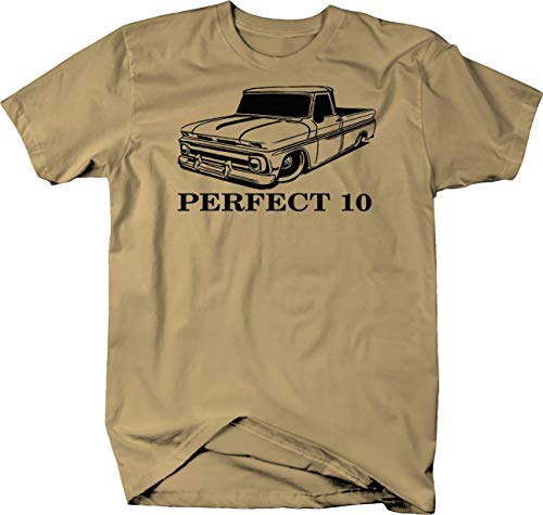 Gmc Pickup Fleetside (Perfect 10 Chevy C10 GMC Fleetside Lowered 1960-66 Pickup Truck Tshirt - 2XL)
