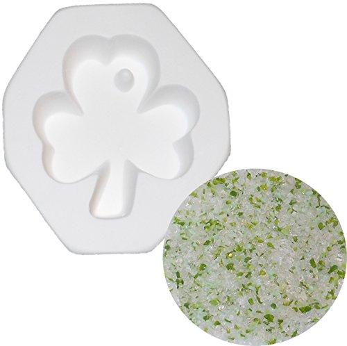 shamrock-with-hole-pendant-and-designer-shamrock-shuffle-frit-sampler-kit-96coe-fusible-glass-jewelr
