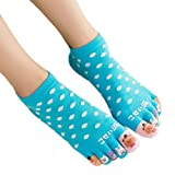 Womens Cotton Toe Socks Barefoot Ventilate Sports Socks, 1 Pair NO.07