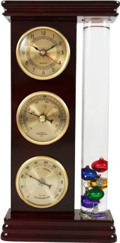 Ambient Weather WS-YG710S-G Galileo Weather Station with Thermometer, Barometer, Hygrometer and Clock Analog Weather Stations